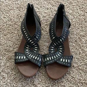 Mossimo women's black sandals size 9.5